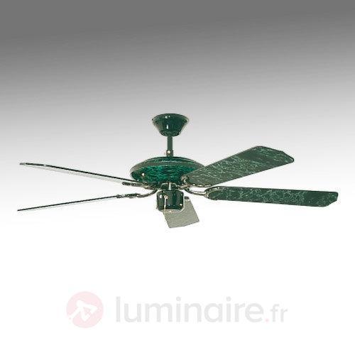 Ventilateur de plafond Espria marbré noir et vert - Ventilateurs de plafond