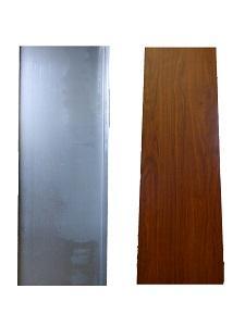 Profilo alliminio  rivestito finto legno -