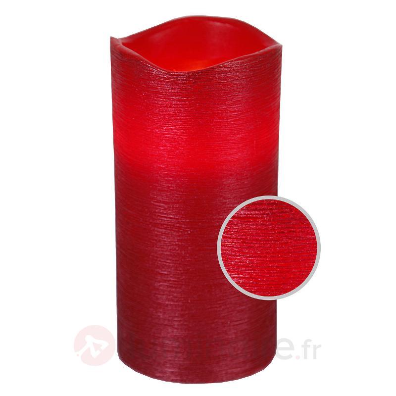Bougie LED Linda en cire véritable rouge 15 cm - Bougies LED