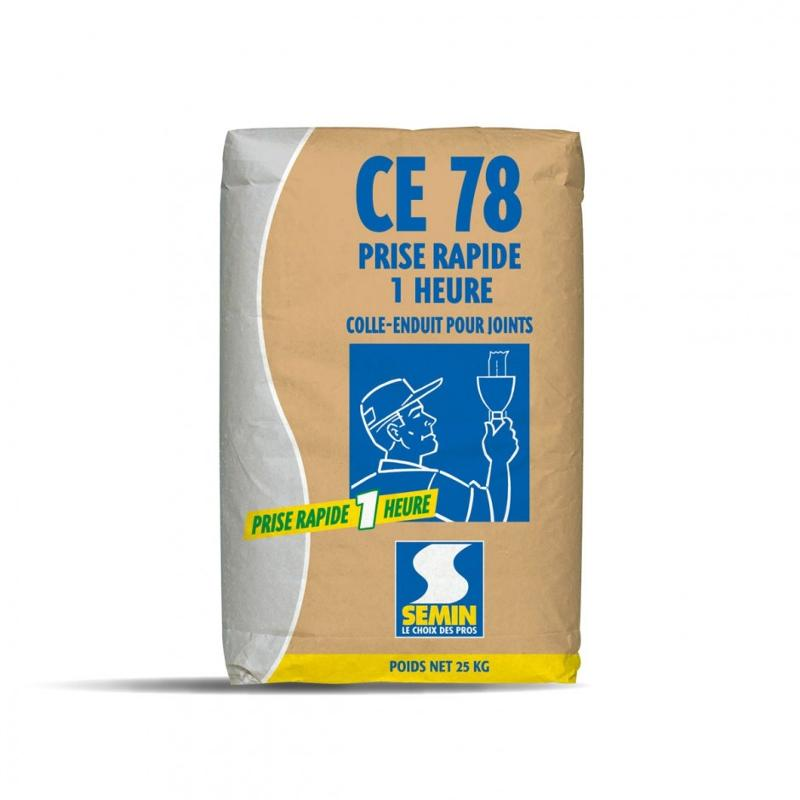 CE 78 1 H - Enduit pour joints de plaques de plâtre temps de prise 1 heure