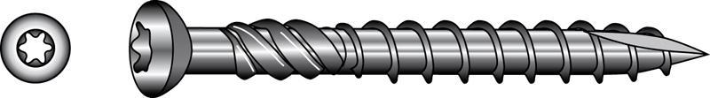 Quadra-Speed® Terrassenbauschrauben, Linsensenk-Zierkopf  - C1-1.4006