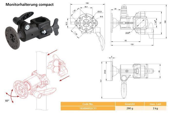 Supporto per monitor compact -