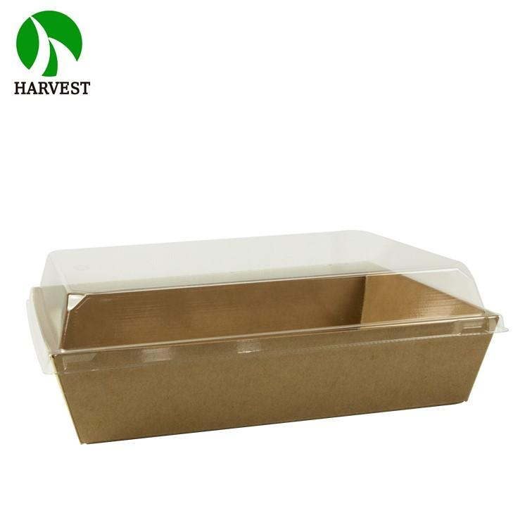 Eco Friendly Cardboard Kraft Paper Packaging Tray Boxes For Fried Food - Folding Paper Box