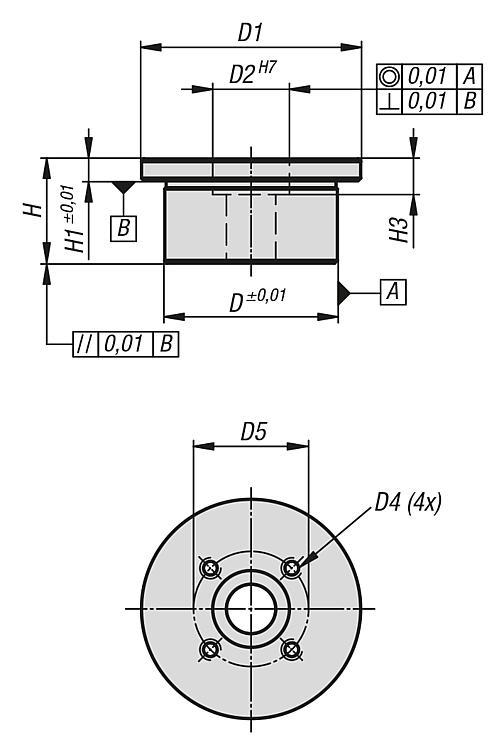 Plaques de montage pour étau de bridage de formes - Éléments de bridage et d'ajustement