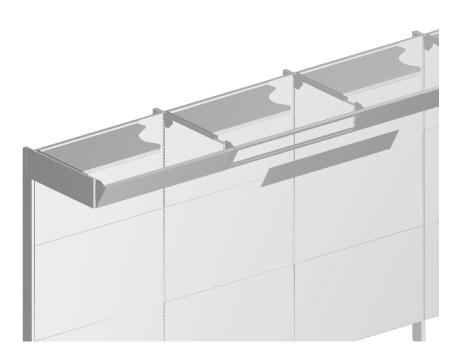 Modular shop rack systems & instore interior shelving design - Fascias