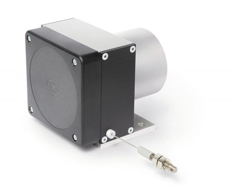 线拉编码器 SG42 - 线拉编码器 SG42, 坚固的结构设计和冗余传感器可测量长度达 4000 mm。