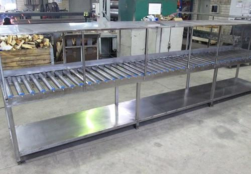 Roll table - Roller tracks in different versions.