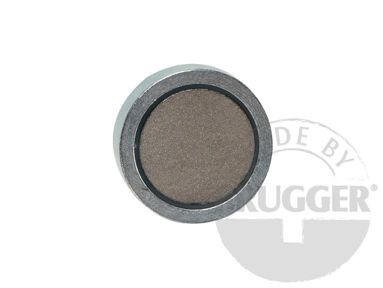 Flat pot magnets SmCo, with screwed bush, galvanized - null