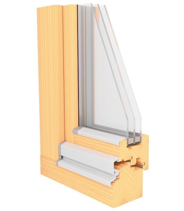 LUCA MODERN II - 80 mm Profile -wooden window