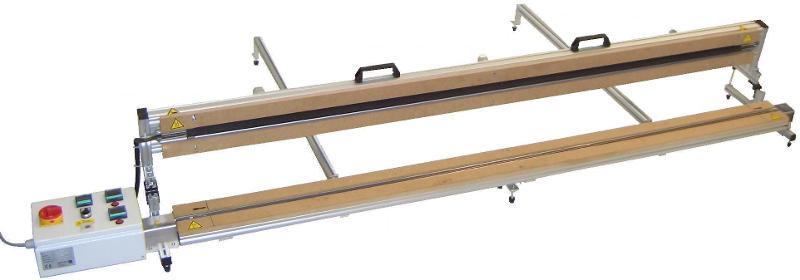 Bild: Tischheizleiste Mod. 2.10 HT mit Oberheizung - Tischheizleiste eins./beids.Heizung