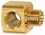 T screw on distributor, G 3/8, AF 27, Brass - Male tee distributor