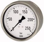 Pressure gauge, robust design, G 1/2, 0 - 250 bar, 100 - Pressure gauge robust type, connection on rear, excentrical