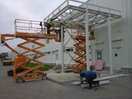 montaj pe santier - asamblare si instalare structura metalica pe santier