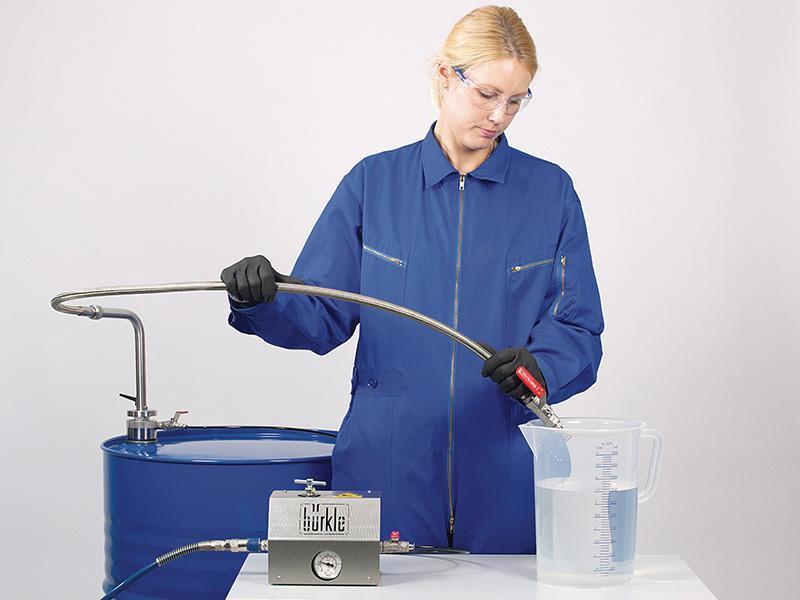 Sistema de extracción de disolventes - Bomba de barril, acero inoxidable, para medios ultrapuros