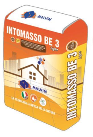 INTOMASSO BE3 LIGHT AD ALTO ISOLAMENTO TERMICO -  Conforme alla norma EN 13813-2002