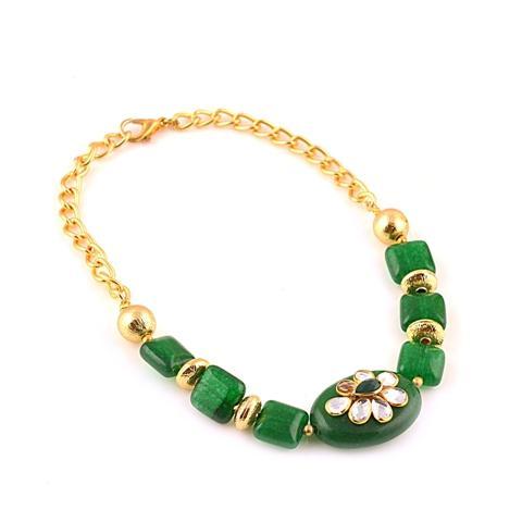 Fashion Handmade Free size Bracelet - Zephyrr Fashion Handmade Free size Bracelet with Kundan for Women