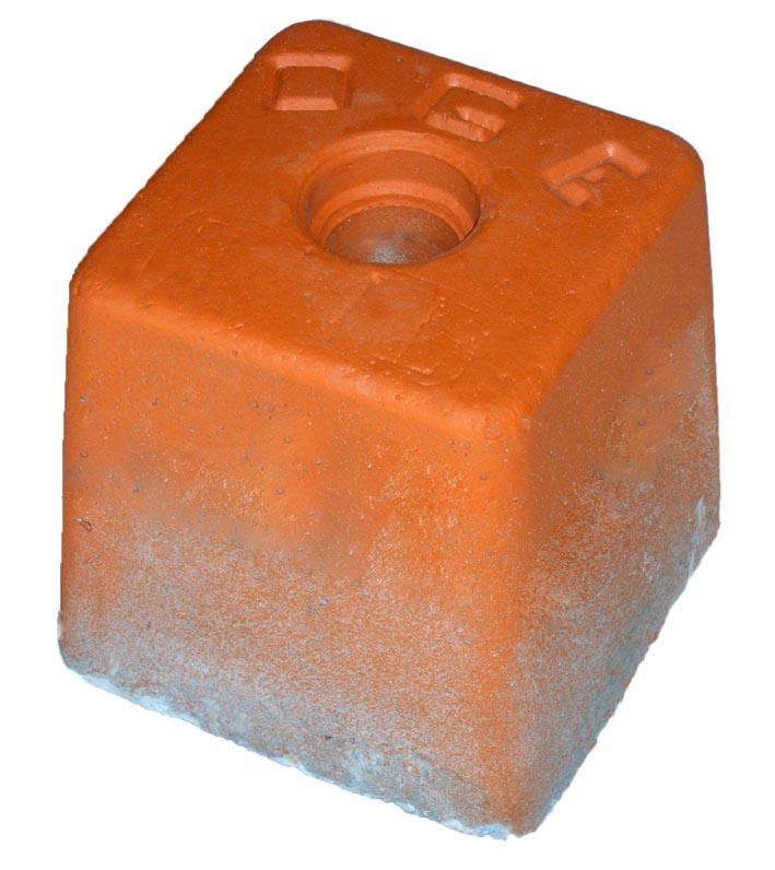BORNES DE GEOMETRE - BA-Grande béton armé vibré ht 110 mm orange OGE