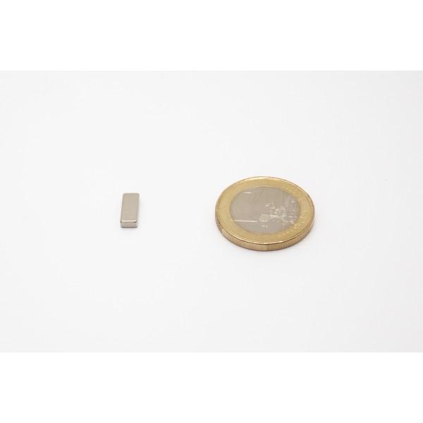 Block magnet, Neodymium, 10x4x2mm, N50, Ni-Cu-Au, gold... - null