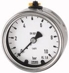 Pressure gauge, CrNi steel, rear eccentric G 1/2,... - Pressure gauges (CrNi steel type / connection on rear)