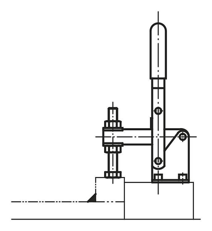Sauterelle à levier vertical grand modèle - Sauterelles