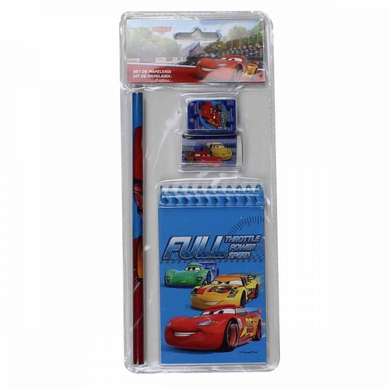 48x Sets papeterie 3 pièces Cars - Papeterie