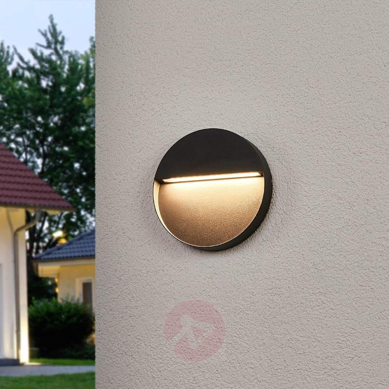 Round LED outdoor wall light Karina - Outdoor Wall Lights