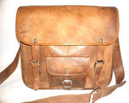 Leather Messenger Bag - Leather Messenger cum office bag