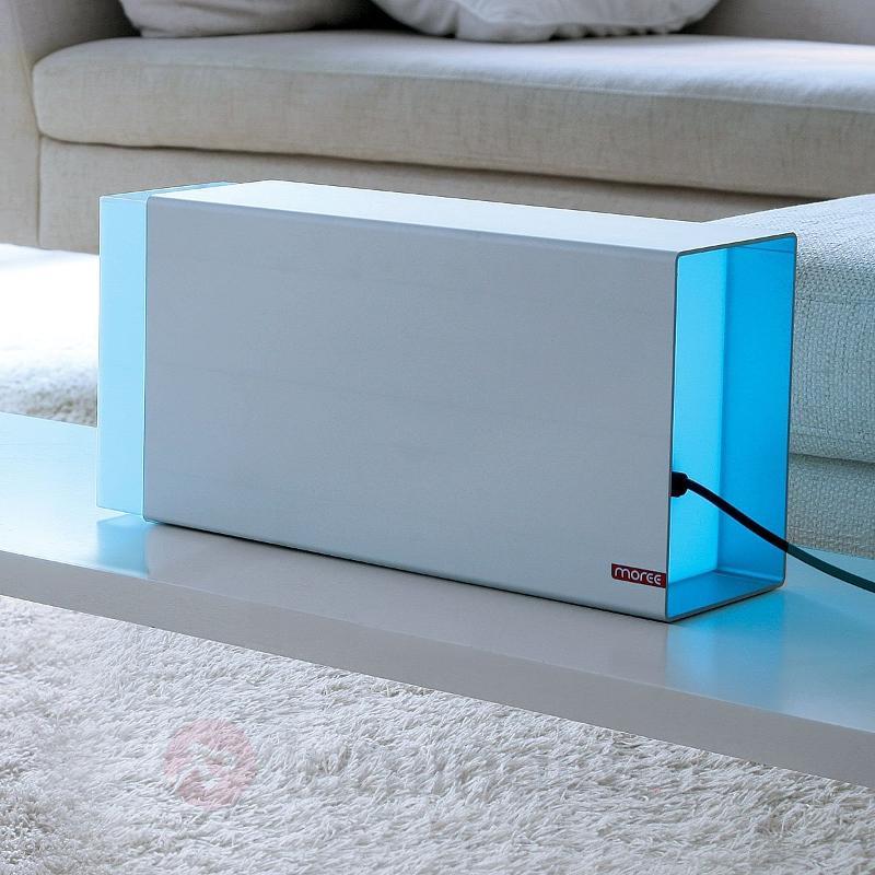Lampe à poser LED ERASER 380 argentée - Lampes à poser LED