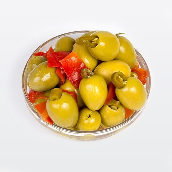 Aceituna Gordal Rellena De Jalapeños -  Aceitunas Rellenas