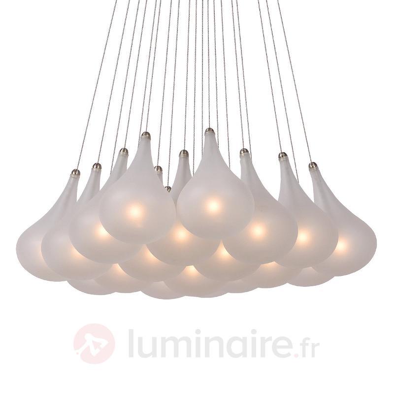 Imposante suspension à 19 lampes TEARS - Suspensions design