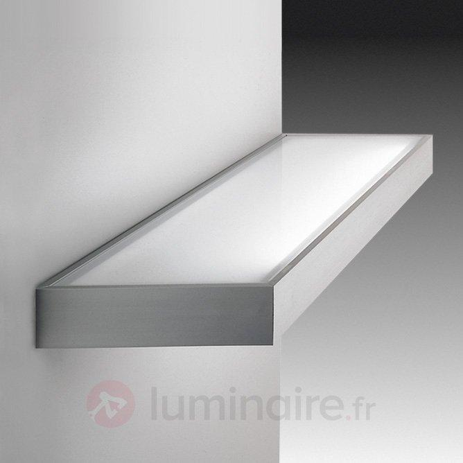 Etagère lumineuse de verre aspect inox - Toutes les appliques