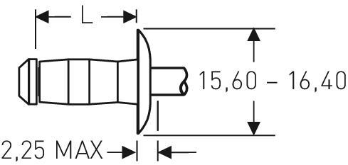 Blind rivet technology - POP® - Vgrip™-rivets - Large flange