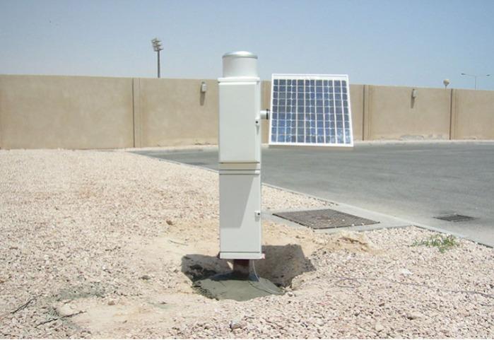 Sensor de precipitaciones RG 100 con balde de inflexión -