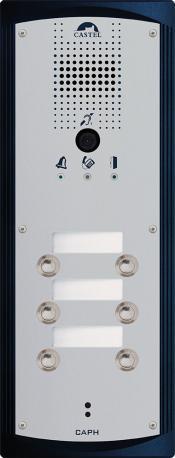 CAPH V6B - Portiers téléphoniques - Portier audio vidéo 6 boutons d'appel conforme loi Handicap