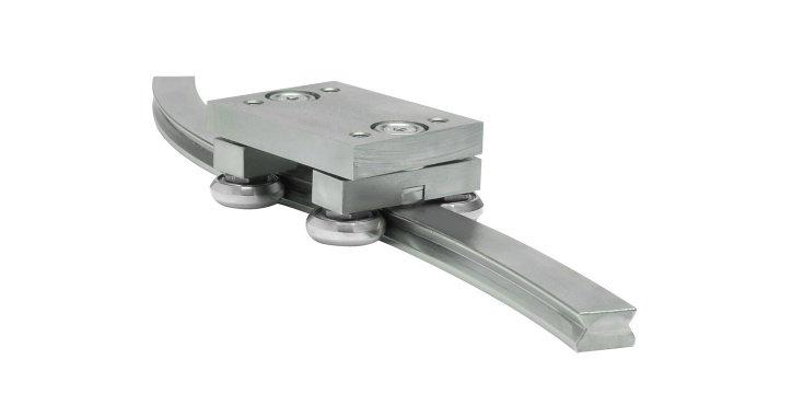 Curviline - Curvilinear rails with radial ball bearing rollers