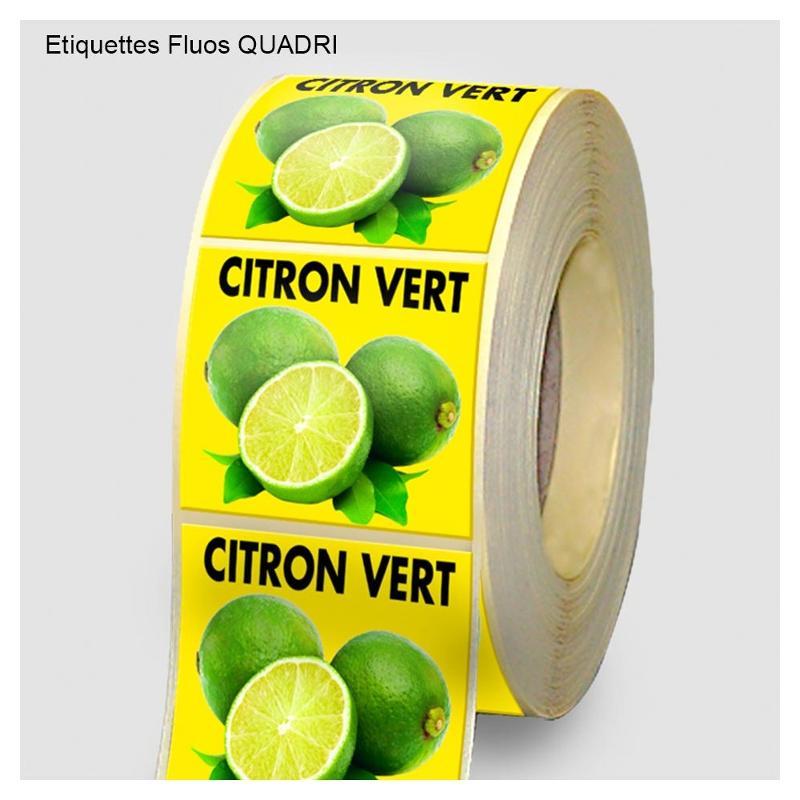 Étiquettes fluos - Etiquettes personnalisées multi-usages et synthétiques