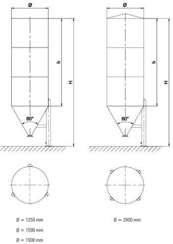Single chamber silo - achbergsilo