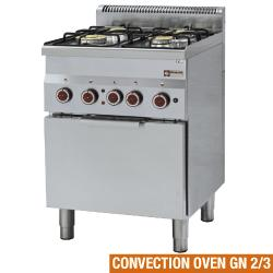 GAMME PRO 600 - GAS STOVES & ELECTRIC CONVECTION OVENS
