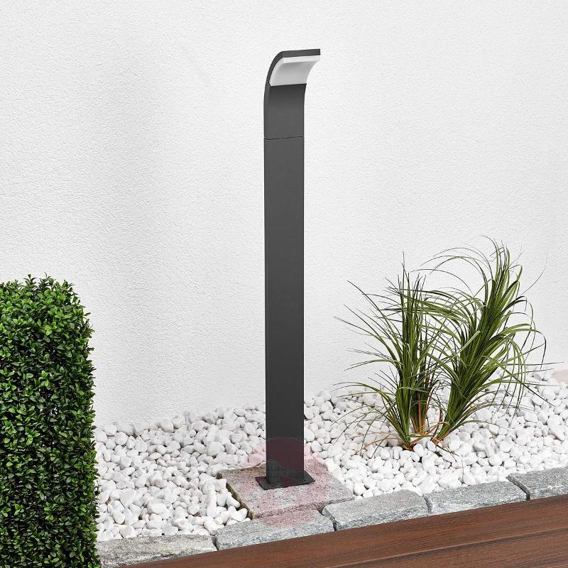 Graphite-coloured LED path light Timm, 100 cm - Path and Bollard Lights