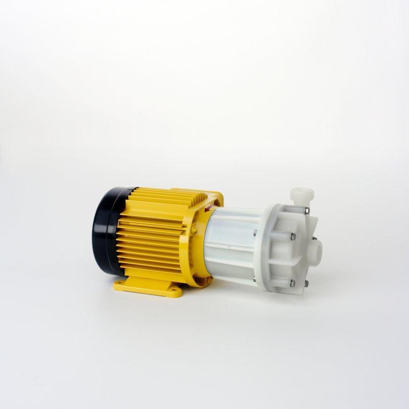 magnetgekuppelte Kreiselpumpe Kunststoff PVDF oder PP - normalansaugende, magnetgekuppelte Kreiselpumpen, Werkstoffe: PVDF oder PP