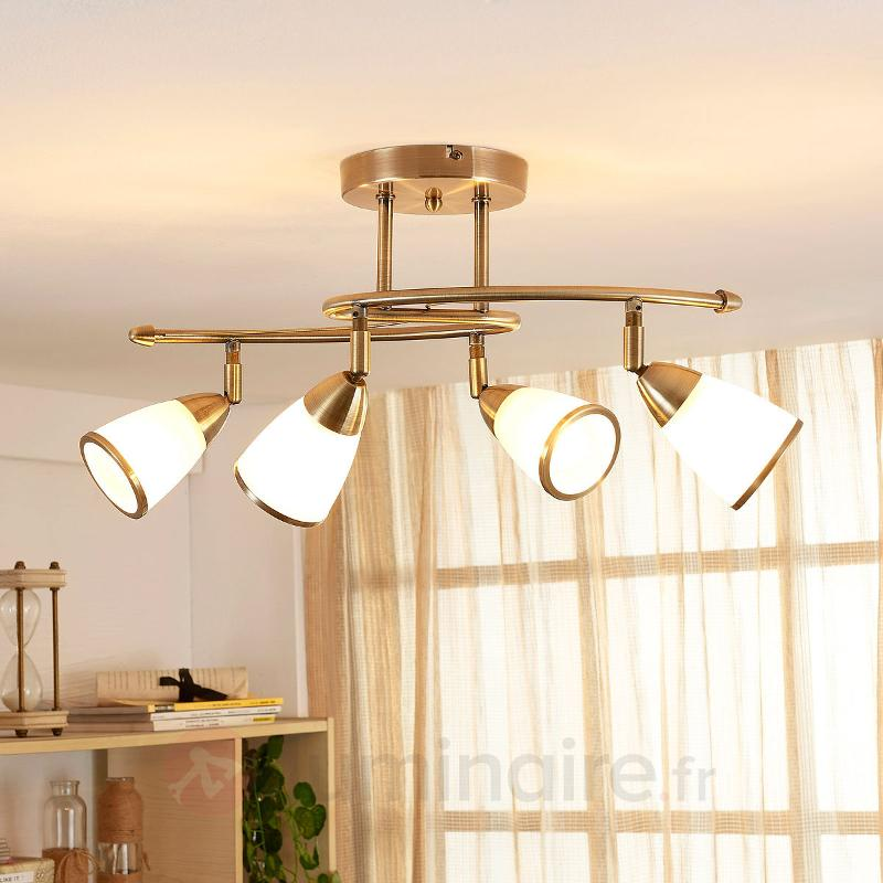 Plafonnier enchanteur Irma, à quatre lampes - Plafonniers classiques, antiques