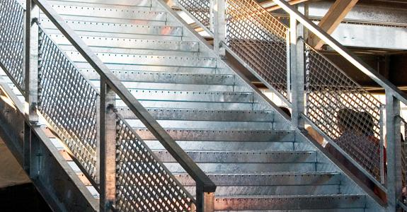 perforated metal planks - Stairtreads