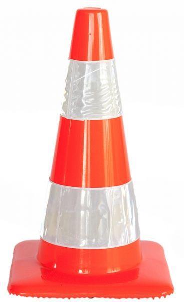 Cone soft pvc 2 H.I. stripes H 50 cm - SIKEL03HI