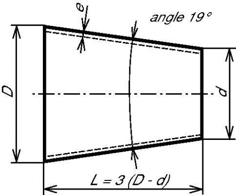 RÉDUCTION CONCENTRIQUE ISO ÉPAISSEUR 2 MM ROULÉ SOUDÉ - INOX 304 L - 316 L (5618)