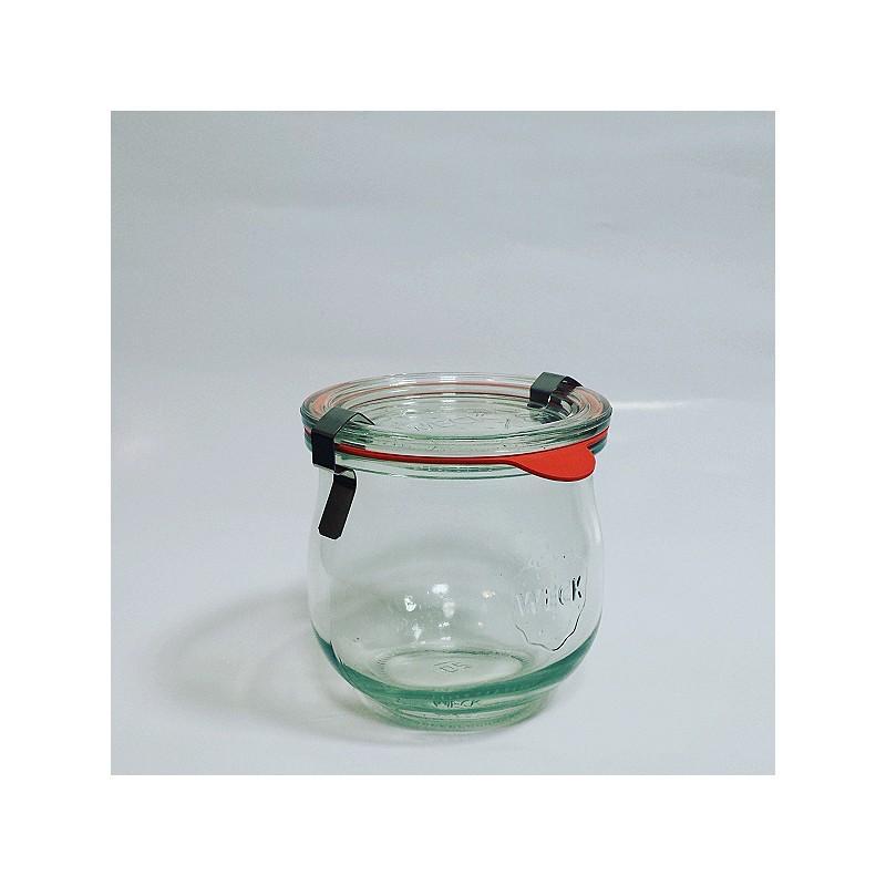 Bocaux WECK COROLLES® - 6 bocaux en verre WECK Corolle 370 ml, diamètre 80 mm avec couvercles et joints
