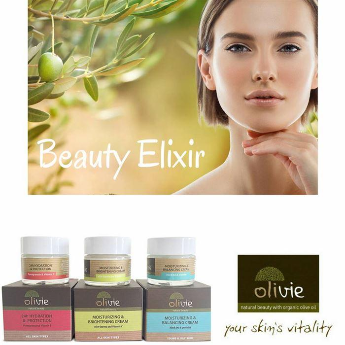 Face creams - with Organic Greek extra virgin olive oil