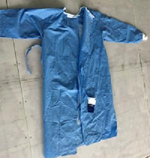 Disposable reinforced surgical gown - Color: blue, white, green  Material: SMS or SMMS nonwoven fabrics  Size: L--5XL