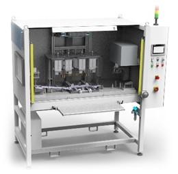 Hot plate machine for several components - Hot caulking
