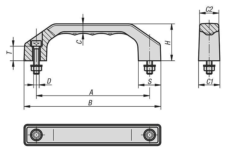 Pull Handles thermoplastic - K0200
