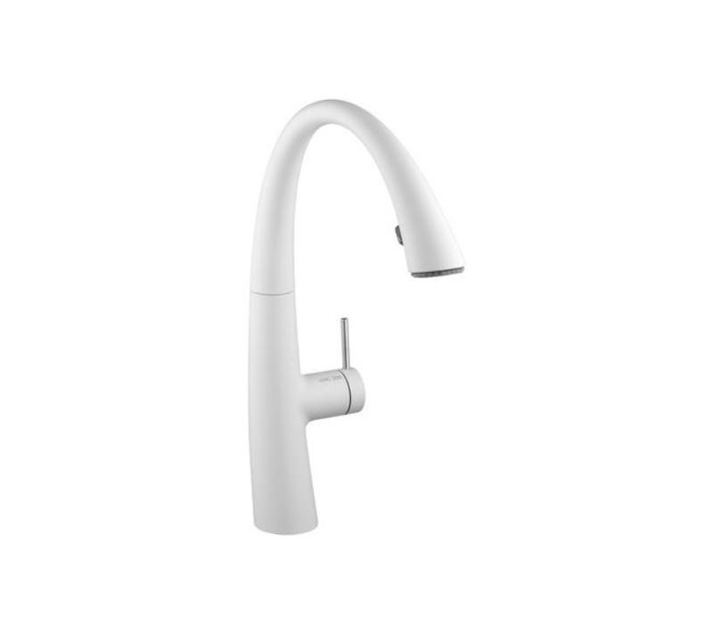 Kitchen mixer with shower KWC ZOE – Glacier white - Shop products